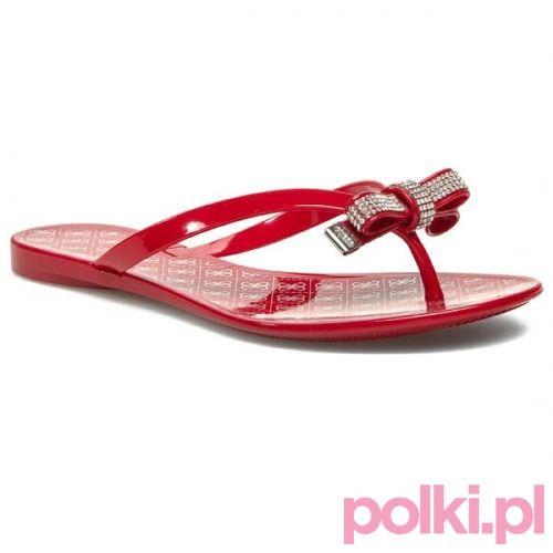 Czerwone japonki Guess #polkipl