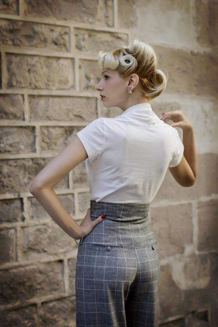 Top Liza en blanco roto y pantalones Miriam