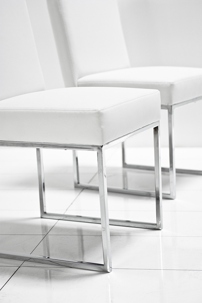 Black Dining Room Chairs With Chrome Legs Pub Table And Chair Set U White Matte Leather Roomservicestore Com Local Scene Pinterest