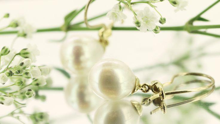Stunning pearl drop earrings from Clayfield Jewellery in Nundah Village, North Brisbane