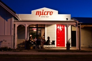 Micro Wine Bar, great wine list, craft beer collection and small plates, Martinborough.