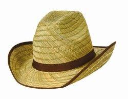 Genuine Cowboy Hat w/Brown Trim and Band 4.20