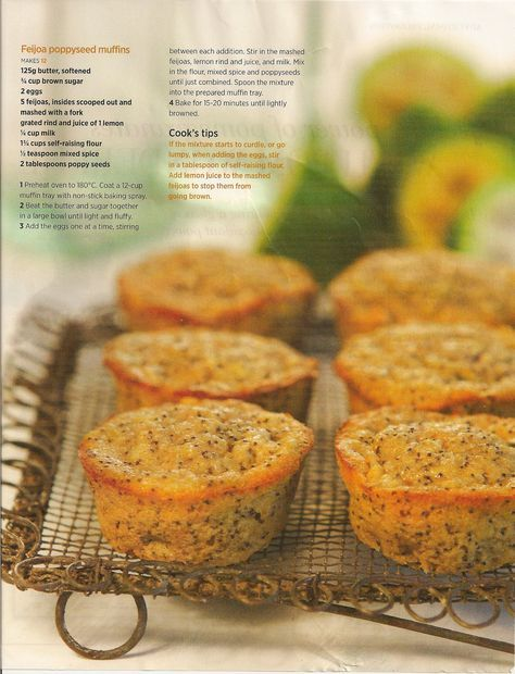 #1 Feijoa poppy seed muffins. Great recipe, looks exactly like picture and they taste great.
