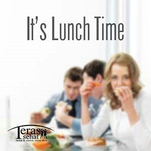 It's a Lunch Time! Yuk mari makan siang sehat sahabat teras..