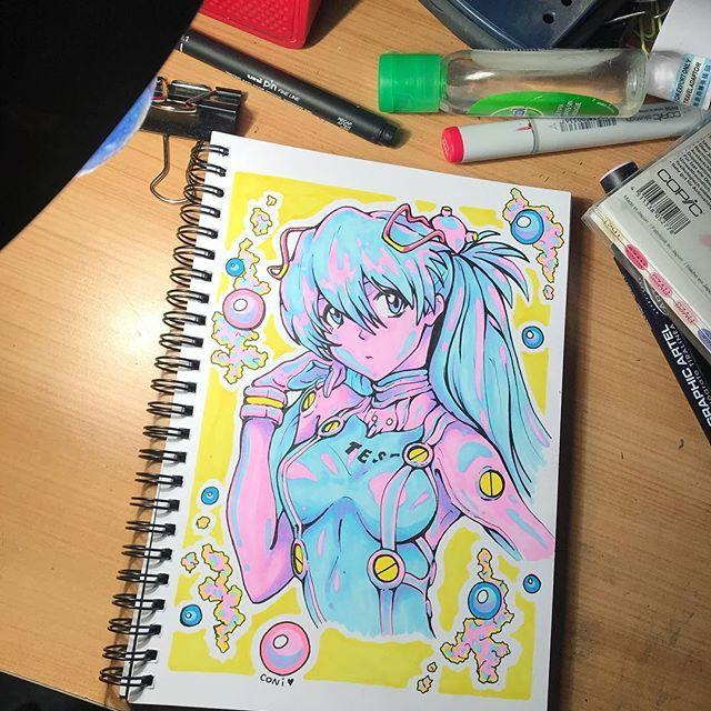 Gorgeous Manga Style Artwork Created By Coni Up Using Their Chameleon Pens Chameleonpens Pen Marker Alcoholmarker Manga Art Marker Art Beautiful Drawings