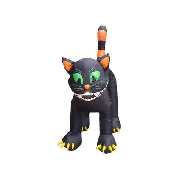 Halloween Inflatable Animated Huge Black Cat Decoration