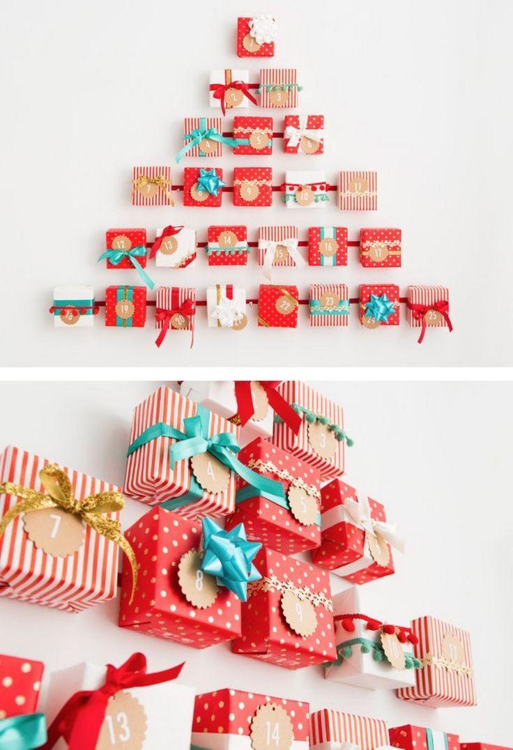 adventskalender-basteln-weihnachtsbaum-geschenkboxen-wand