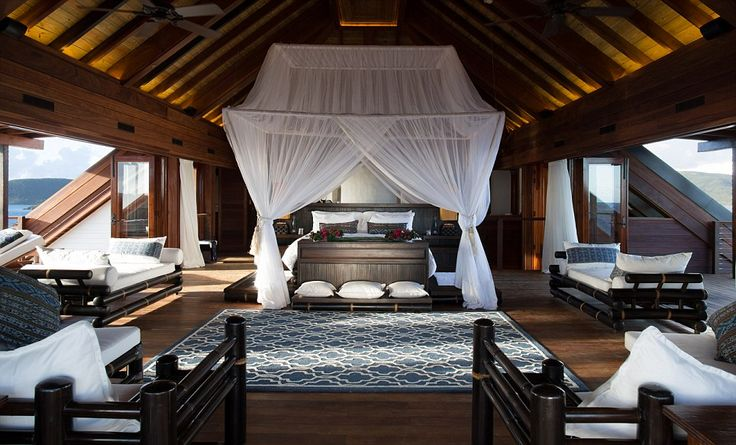 Settle in: Necker Island is available to those who can fork out the hefty price tag of £37,500 per night and is also the Bransons' favourite...