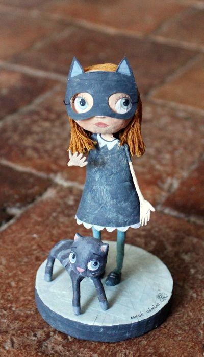 Chloé Rémiat | paper illustrator | catwoman