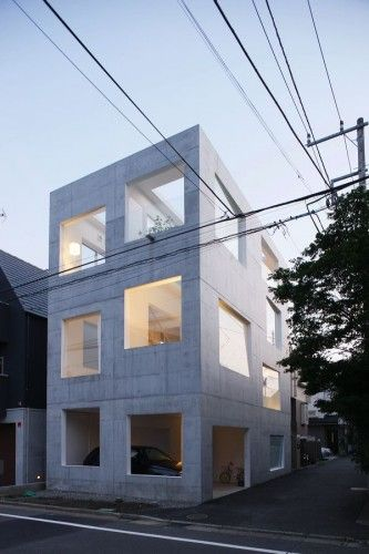 Sou Fujimoto: Modern House Design, Simple Building, Architecture Girls, Building Architecture, Simple Concrete, Sou Fujimoto, Architecture Boxes, Simple Architecture, Concrete House