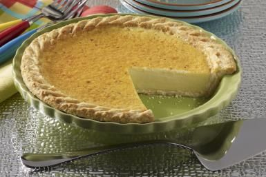 Sweet Egg Custard Pie with Nutmeg and Vanilla: Custard Pie