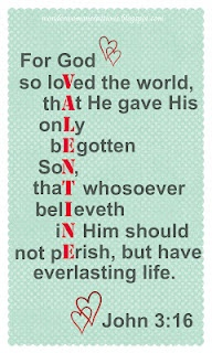 John 3:16 Valentine <3  {free printable} // Made this into a bulletin board!