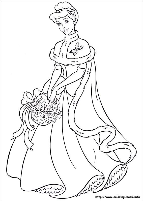 Free Disney Princess Christmas Coloring Pages