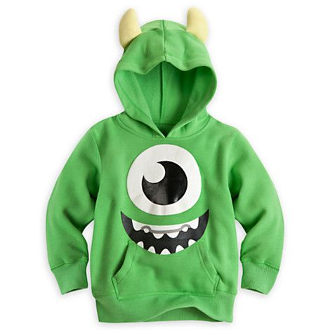 Mike Wazowski Hoodie for Boys - I am so getting an XL and making it fit.