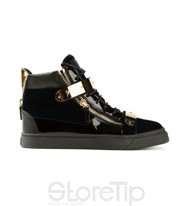 Giuseppe Zanotti Design Golden Strap Hi-Top Sneakers - StoreTip