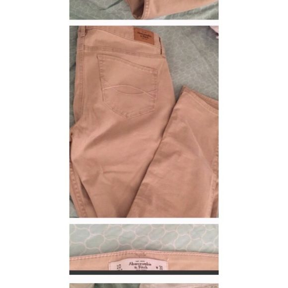 Abercrombie and Fitch Legging Khaki Pants Tan. Women's size 10 or waist size 30. Inseam is 31. Legging style. Brand new never worn now selling because they're too big. New without tags. Retail price is $88 a pair. Abercrombie & Fitch Pants Leggings