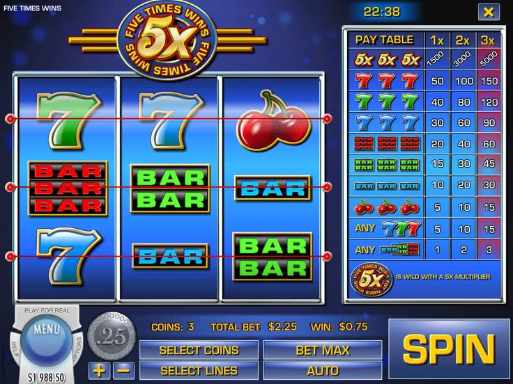 Prüfe unsere Neusten kostenlos Spielautomaten Spiel Five Times Wins - http://spielautomaten7.com/five-times-wins/
