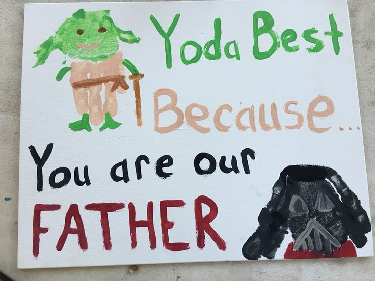 Father's Day gift we made. My sons adore Star Wars