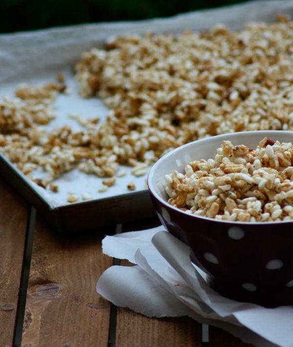 Blog   Ricette   Cereali soffiati con miele, nocciole e cannella