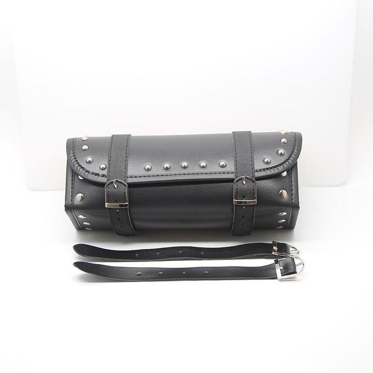 Universal Harley Motorcycle Handlebar Bags Motorbike Sissy Bar Bags Side Tool Bags PU Leather