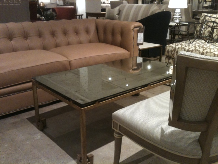 Hickory Chair Kent Sofa With Coffee Table Example