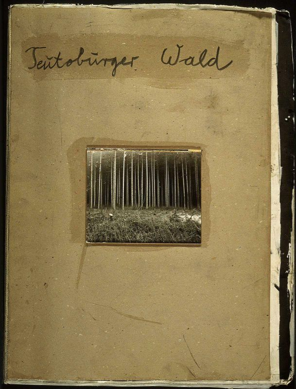 Anselm Kiefer (German, born in 1945), Teutoburger Wald (Teutoburg Forest), 1977, Unique artist's book, illustrated with woodcuts and one black and white photograph http://www.pinterest.com/caholt0303/anselm-keifer/