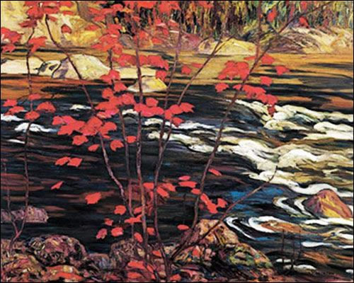 """A.Y. Jackson, Group of Seven, """"The Red Maple"""" (1914)."""