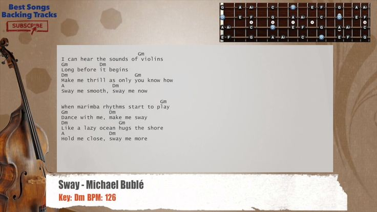 Sway - Michael Bublé Bass Backing Track with chords and lyrics