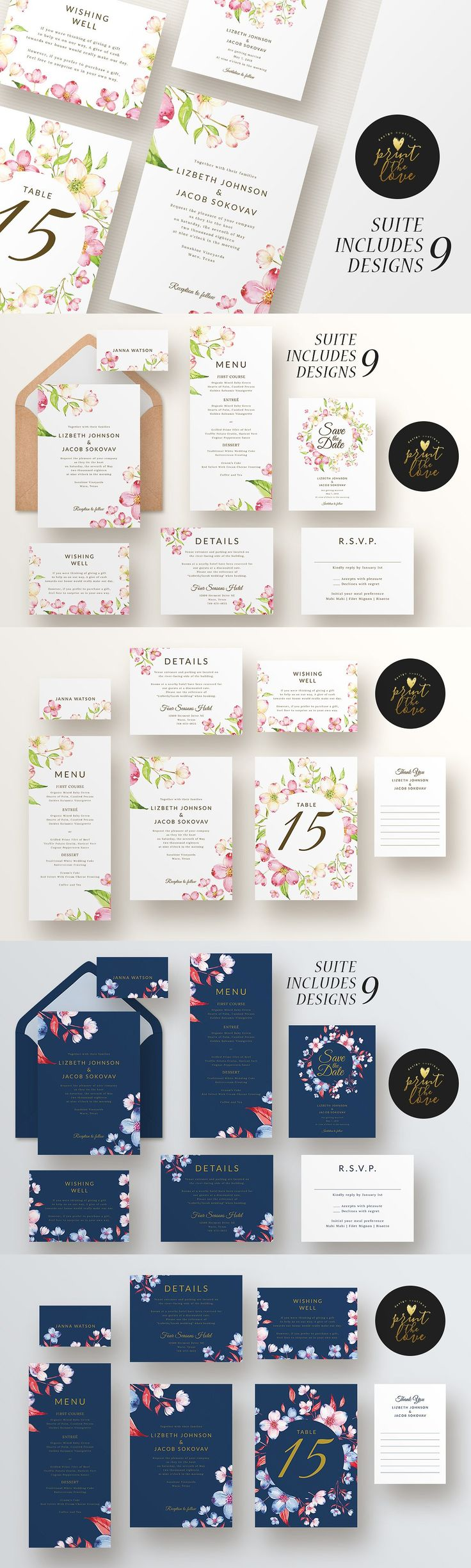 free wedding invitation psd%0A Wedding Invitation Suite Template PSD  PDF