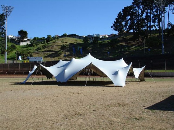 Flextent 120 - Stretch Tent - Can be pitched in a variety of shapes just by relocating the poles.