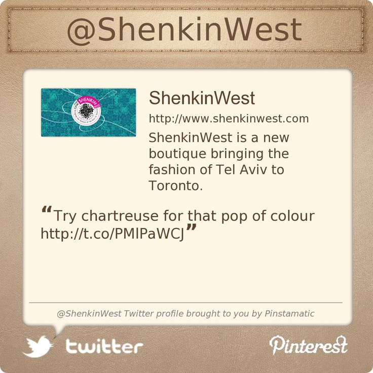 @ShenkinWest's Twitter profile Best styles and looks for me!