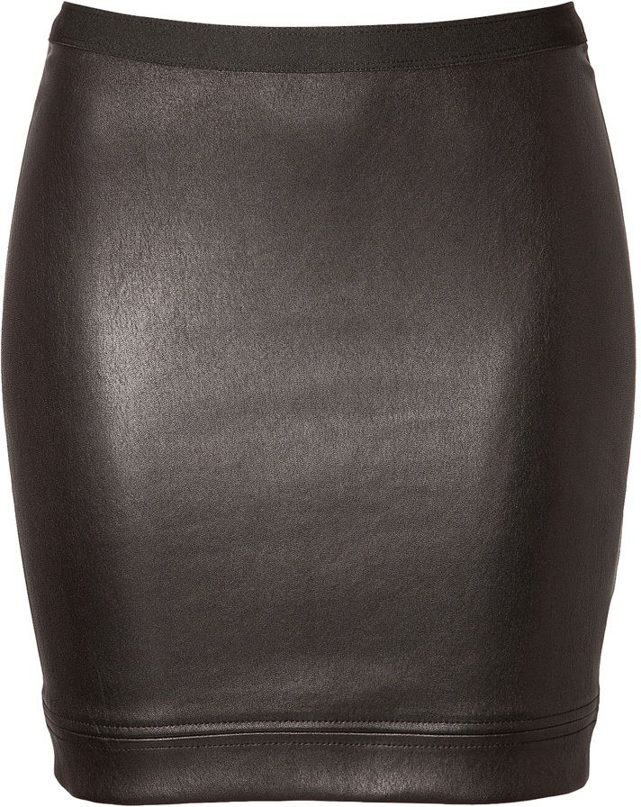 Helmut Lang Leather Mini-Skirt
