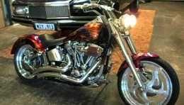 HARLEY DAVIDSON custom fatboy softail chopper for sale #harleydavidsonsoftailfatboy