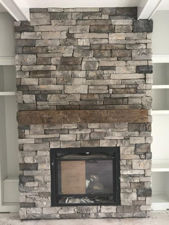 Our Fireplace Stone Huron Old Country Ledge From Builder S Stone