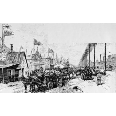 New West Street 1899 illustration USA New York State New York City Canvas Art - (24 x 36)