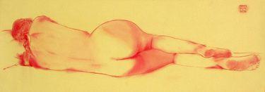 "Saatchi Art Artist Franco Fusari; Drawing, ""Chiara III #C154"" #art"