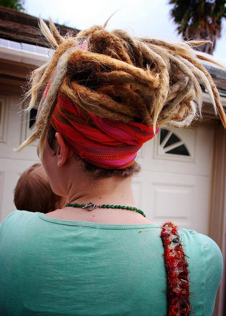 wrapped up dread up-do <3