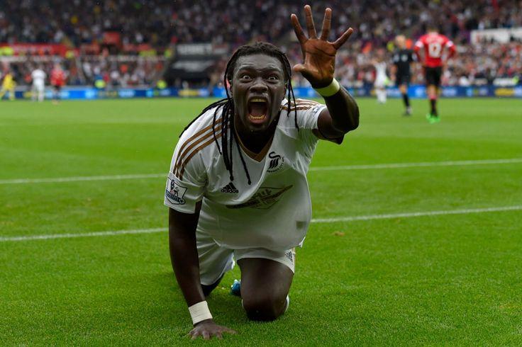 @Swansea Bafetimbi Gomis scored the winner once again as Swansea triumphed 2x1 to spoil Louis van Gaal's 50th match in charge of @manutd #9ine