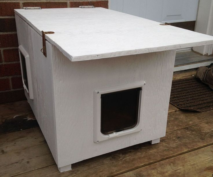 Cold Weather Enclosures : Best ideas about outdoor cat houses on pinterest