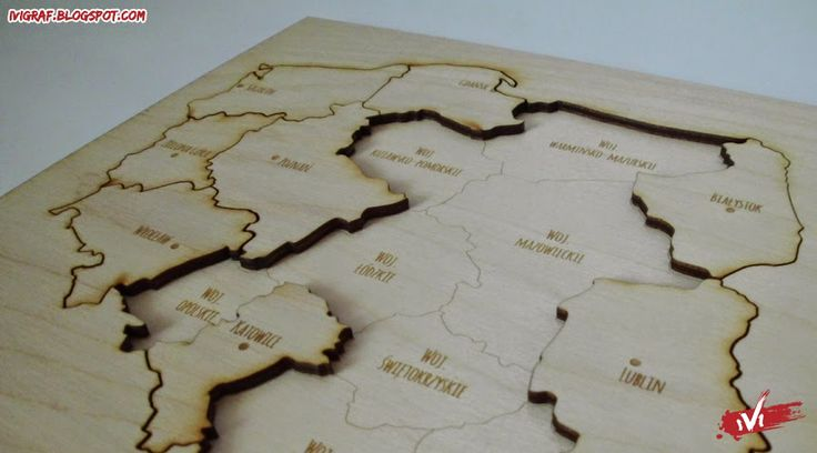 Poland - puzzle laser cut plywood