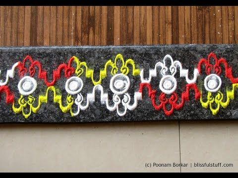 Innovative and beautiful border rangoli   Rangoli designs by Poonam Borkar