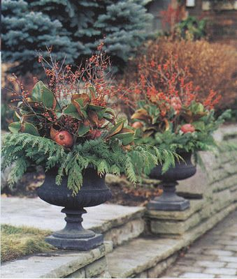 ideas for urns - fall or winter ~