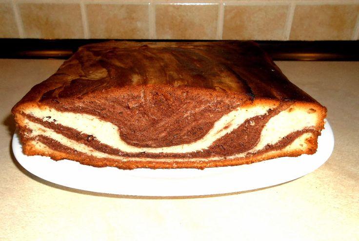 wspaniałe ciasto BIAŁKOWIEC a'la zebra