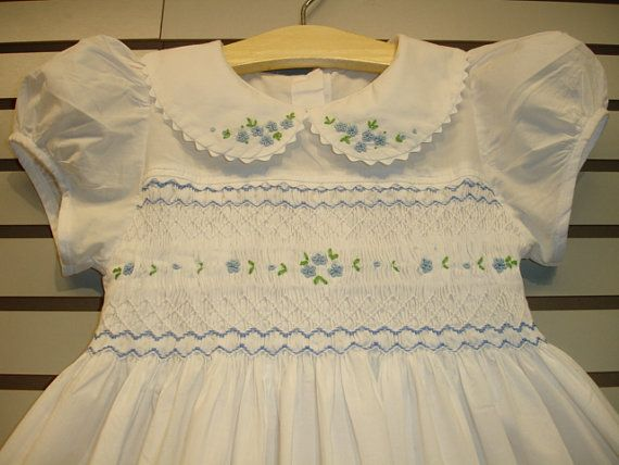 New boutique design hand embroidered smocked by CiaoBebeBoutique