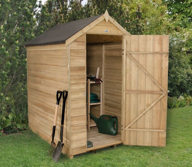 forest 4ft x 6ft overlap security shed
