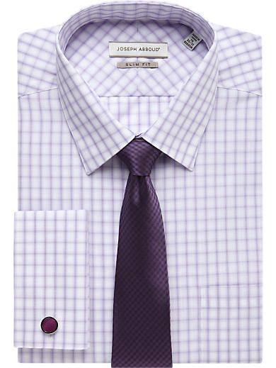 Lilac Check Shirt & Purple Check Tie - Shirt and Tie Combos | Men's Wearhouse