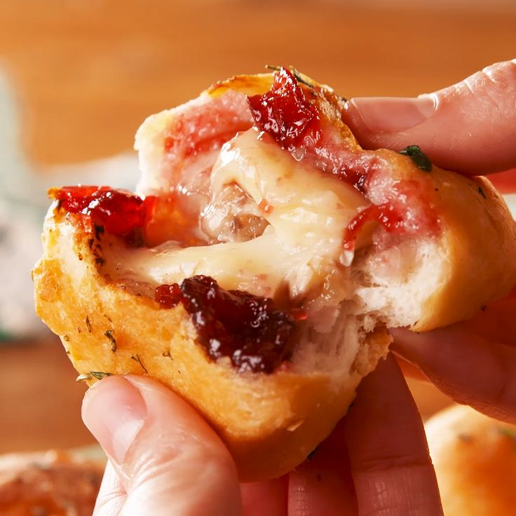 Cranberry Berry Brie Bread Bombs