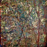 Crisscross,  Oil on canvas, 70X70cm,2013