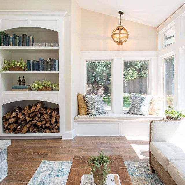 "Here's the sunroom from last week's ""cargo ship"" house. Can't wait for tonight's all new #fixerupper on @hgtv 9/8CST"