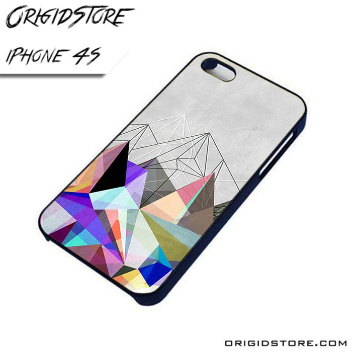Colorful Geometri Pyramid Case For Iphone 4/4S Case